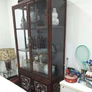 Display cupboard W 103cm H 213 D 43