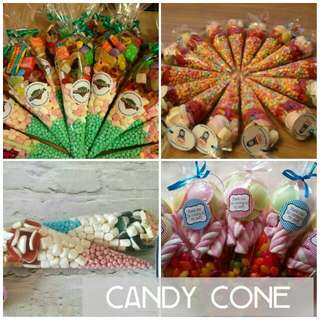Candy cone.Sweet cones.
