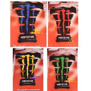 Monster Energy Fishbone Protector Pad stickers