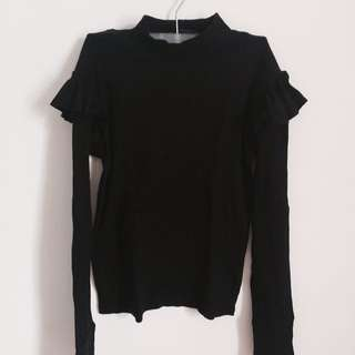 Zara Trafaluc Top (Black)