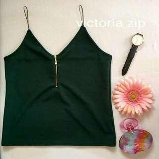 victoria zip blouse