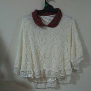 white lace outer