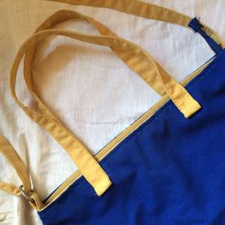 F&H Blue & Yellow Shoulder/Sling Bag