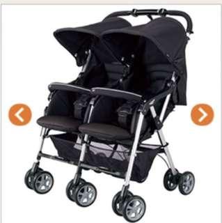 Combi twins stroller / double pushcar