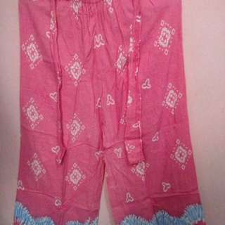 Celana kulot pink