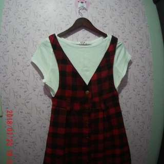 Checkered dress (white shirt not included)