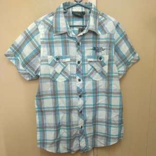 Von Dutch Checkered Polo Shirt