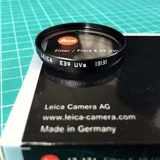 New Leica E39 13131 UVa Filter