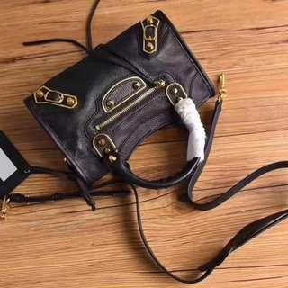 頂級原單Balenciaga巴黎世家 山羊皮經典金邊框款 小號手袋