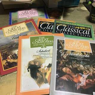 Assorted Books (The Great Composers and their music, The Classical Collection)