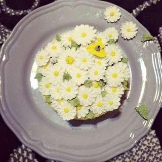 🐯虎媽手作🐯韓式豆沙錶花【小雛菊蛋糕】春天🐝味~~