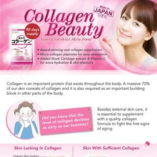 AFC Collagen Beauty contains small collagen peptides to give you smooth supple skin