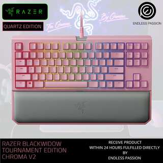 Razer BlackWidow Tournament Edition Chroma V2 Quartz Edition