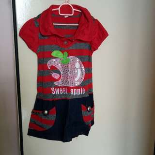 Girl's dress and T-shirt