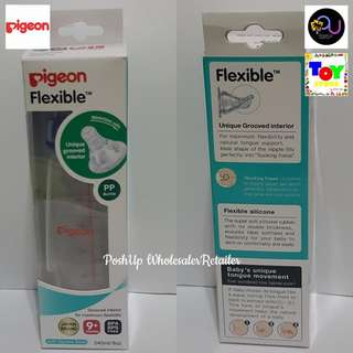 PIGEON FLEXIBLE PERISTALTIC NIPPLE BOTTLE 240ml