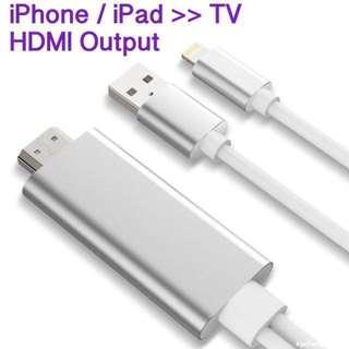 🔥🔥零延遲 Zero Latency !! 唔使apple TV , iPhone / iPad the Cable to HDMI TV / Projector / PC Monitor 1080p iPhone X 8 Plus 7 7 Plus 6s 6 iPad Pro 12.9 10.5 2017 Air 2 iPad mini all compatible in airplay
