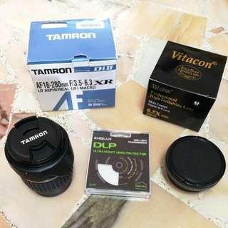 Tamron lens + Vitacon Fish eye Lens