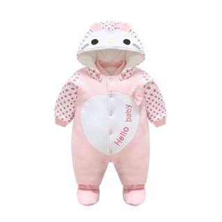 Cartoon cute baby auntum winter jumsuit romper 6-9 month