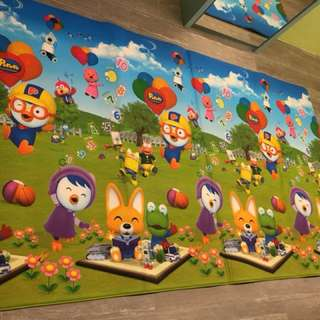 Pororo PU Mat  (approx 223 x 139cm) almost new