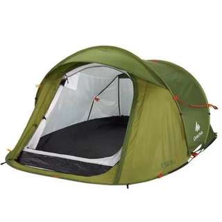 Easy 2 SEC POP-UP 2+1 pax Camping Tent Green waterproof (limited edition)