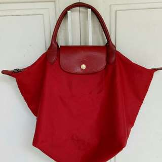 Longchamp base 30 authentic red