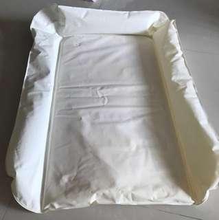 Baby cushion changing mat.