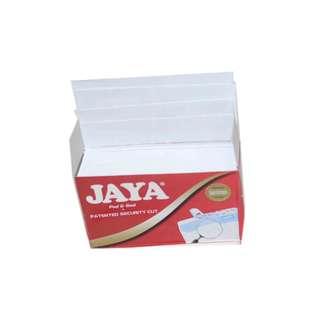 Amplop polos putih Merk Jaya (harga untuk 100 lbr / 1 pack)