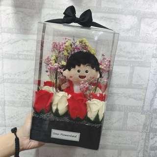 小丸子盒裝花