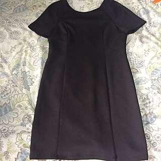 Forever 21 Black Office Dress