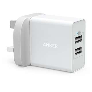 Anker ✪ 24W 4.8A 2-Port Multi USB Charger with micro-USB Cable