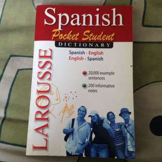 Larousse Spanish Pocket Student Dictionary
