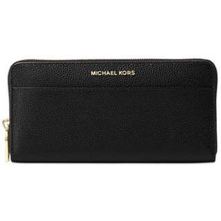 Michael Kors Mercer Zip-around Continental Wallet (Black)