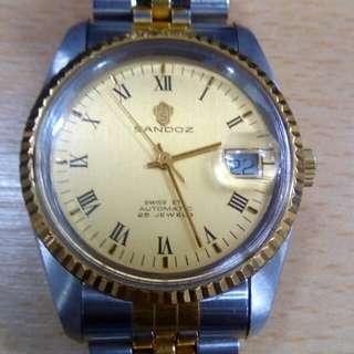 Sandoz Datejust two tone automatic watch