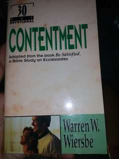CONTENTMENT (Adapted from the book Be Satisfied, a Bible study on Ecclesiastes
