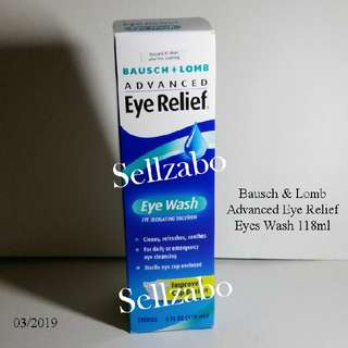 Bausch & Lomb Advanced Eyes Relief Wash Irrigating Solution Refresh Soothes Sellzabo
