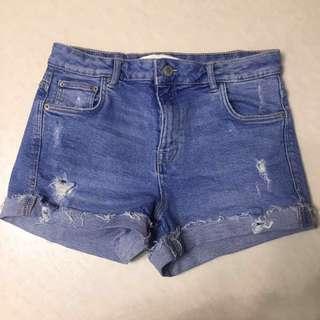 Zara high waisted denim shorts 高腰牛仔短褲
