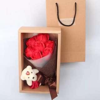 7 soap Roses Flower Bouquet
