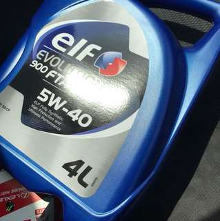 ELF 5w40 engine oil