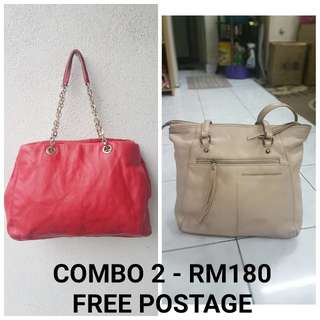 COMBO FOR 2 LEATHER BAG