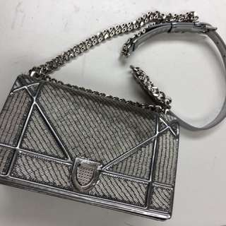 Diorama authentic silver bag
