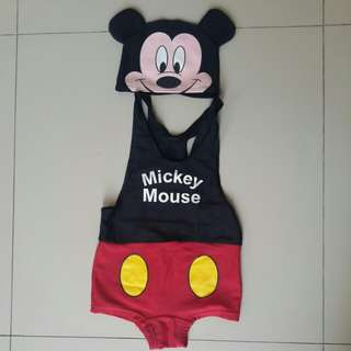 Baju renang micky mouse with hat