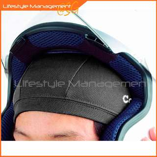 2 Pcs (Komine) Motorcycle/Bicycle Helmet Sweat Absorbent Breathable Mesh Skull Cap Fast Drying Wicking Bike Helmets Liner Bike