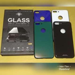 Iphone 玻璃面軟邊電話殼 (購買兩個或以上9折)