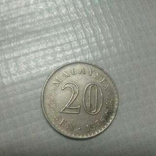 Ad yg membutuhkan duit syiling 20 sen thun 1976