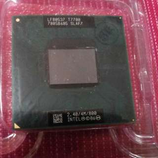 Core 2 Duo T7700 notebk Processor. T7700 Good wkg condition n please see pics. . T7700 nbk core 2 duo cpu.