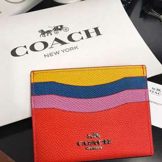 Coach card holder 100% with box