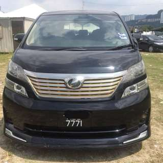 SAMBUNG BAYAR/CONTINUE LOAN  TOYOTA VELLFIRE 2.4  YEAR 2008/2013 MONTHLY RM 2200 BALANCE 4 YEARS ROADTAX VALID PUSH START BUTTON 1POWER DOOR 1POWER BOOT 8 SEATER REVERSE CAMERA DVD PLAYER  DP KLIK wasap.my/60133524312/vellfire