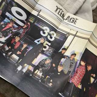 SEVENTEEN Teen,Age Posters FOLDED