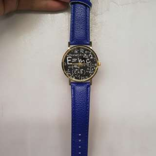 Blue E=MC^2 watch