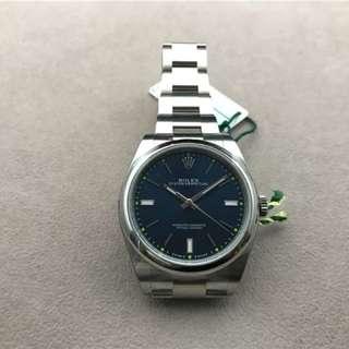 Rolex 劳力士 蚝式恒动 39mm 114300 蓝色盘